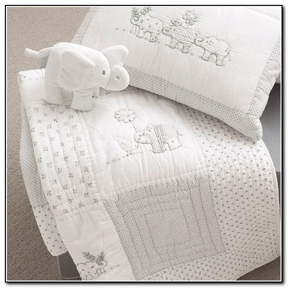 Gray Elephant Baby Bedding