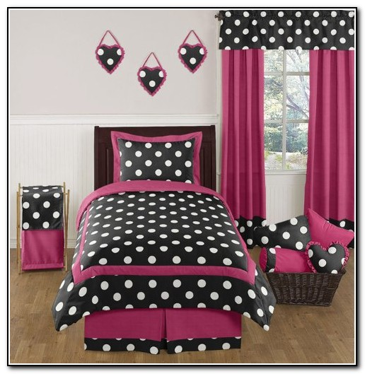 Hot Pink And Black Bedding Sets