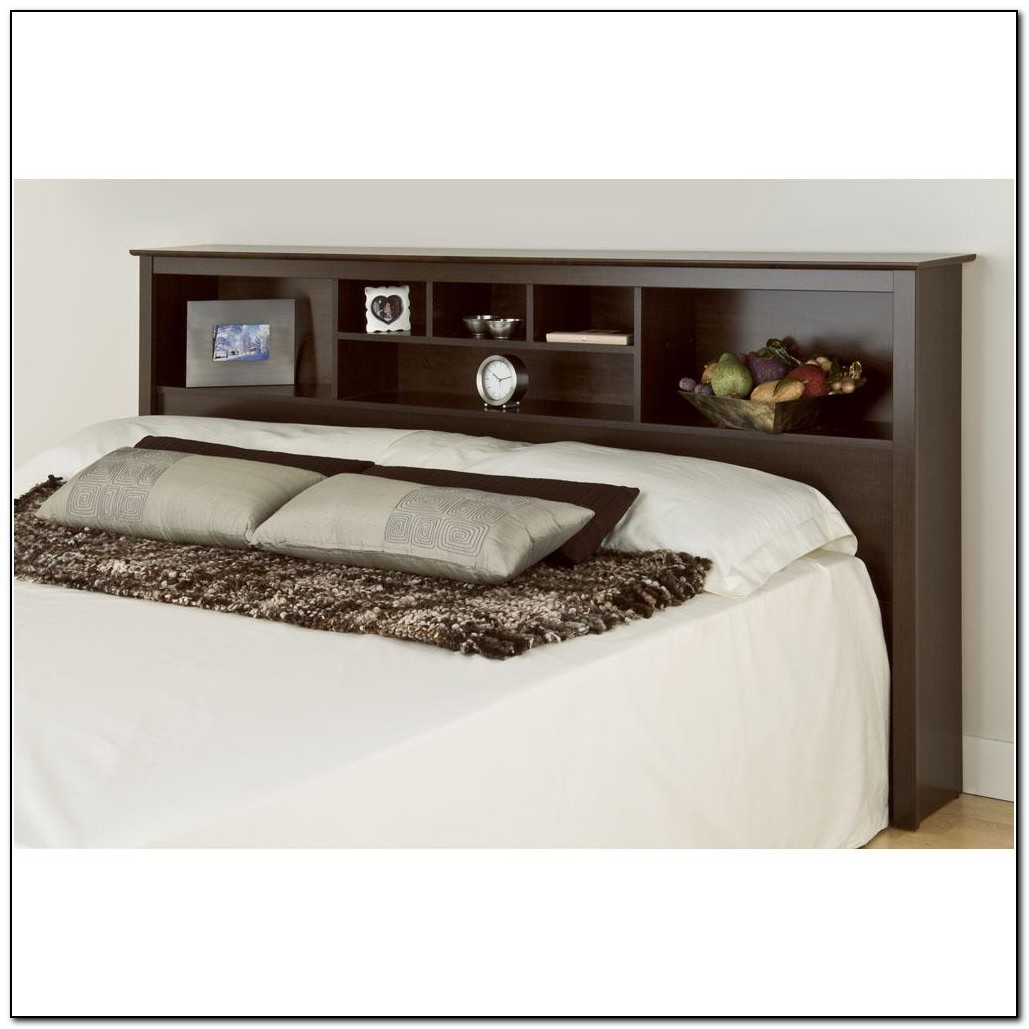 King Bed Headboard With Shelves