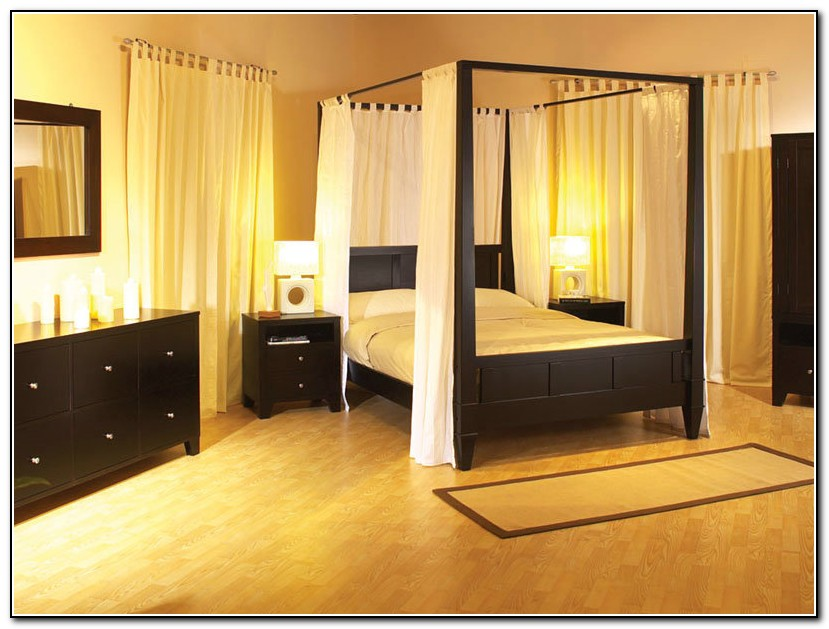 King Size Canopy Bed Set