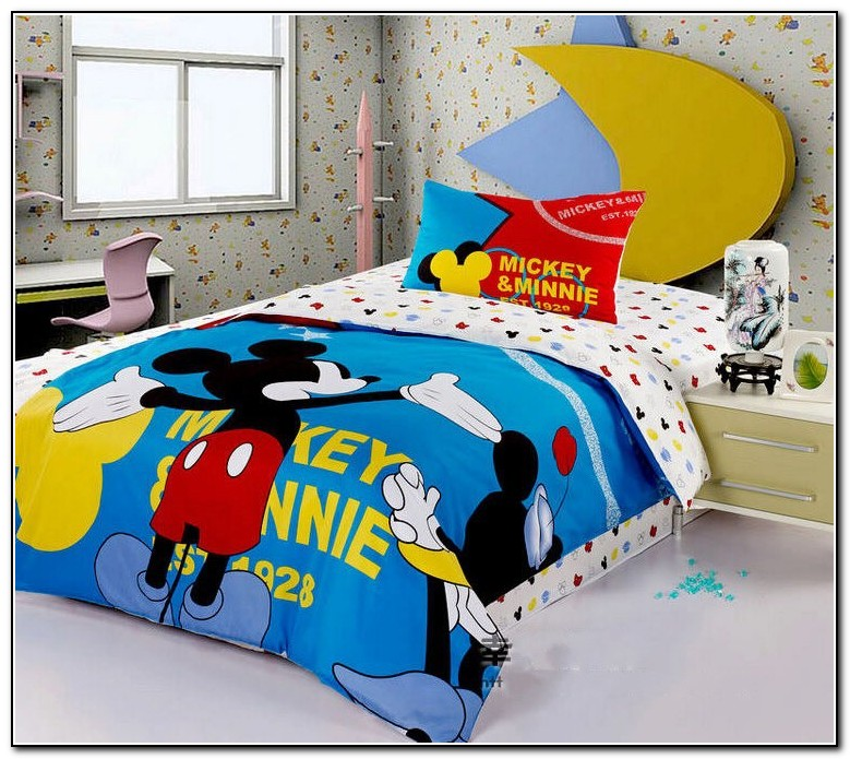 Mickey Mouse Queen Size Bedding Set Beds Home Design