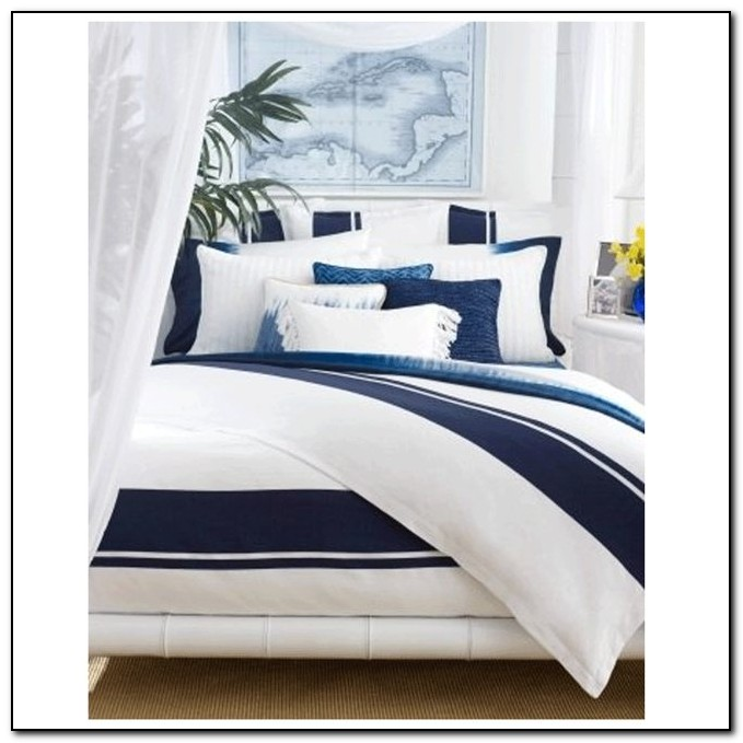 Navy And White Bedding Queen