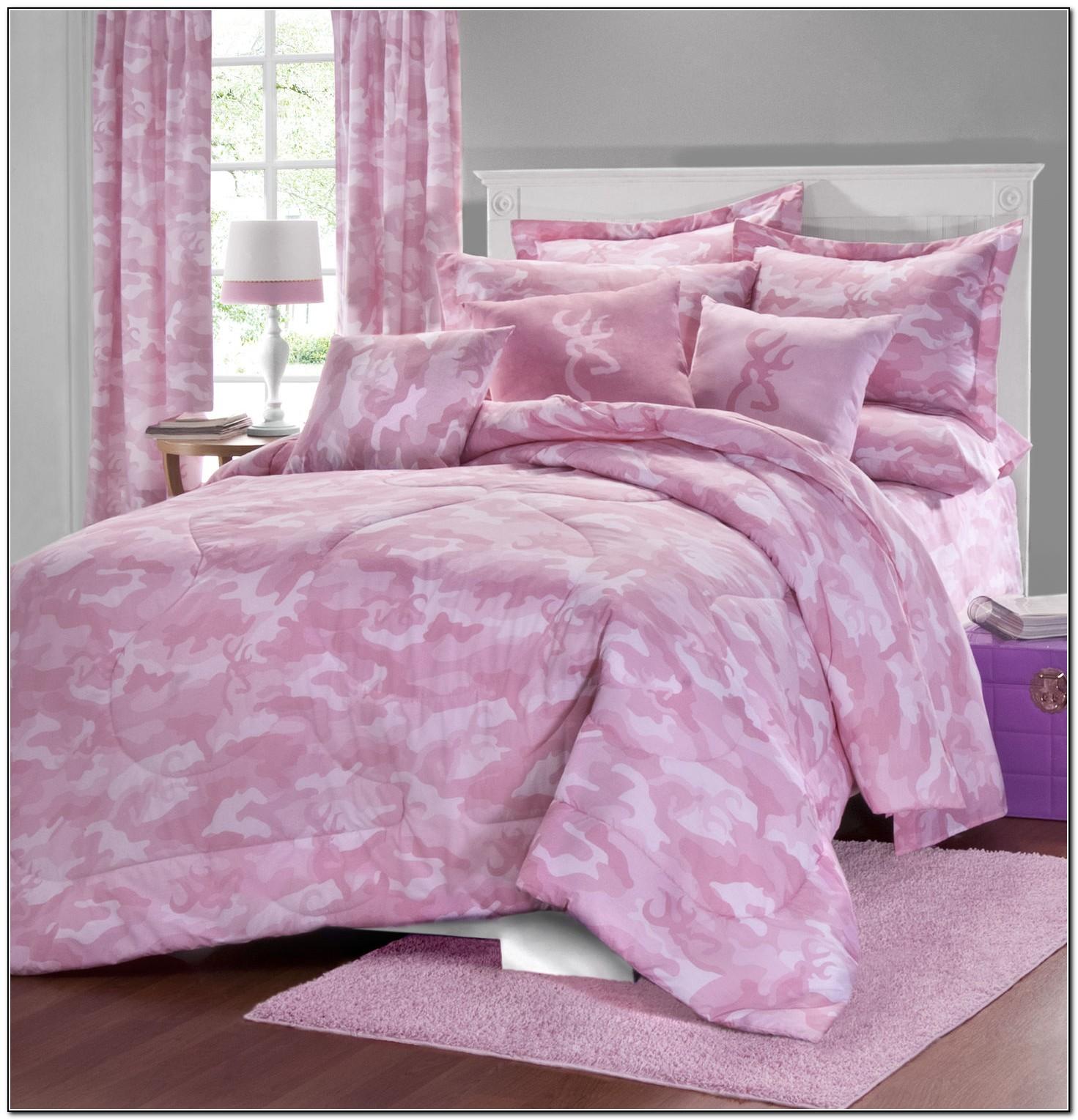 Pink Camouflage Bedding Sets
