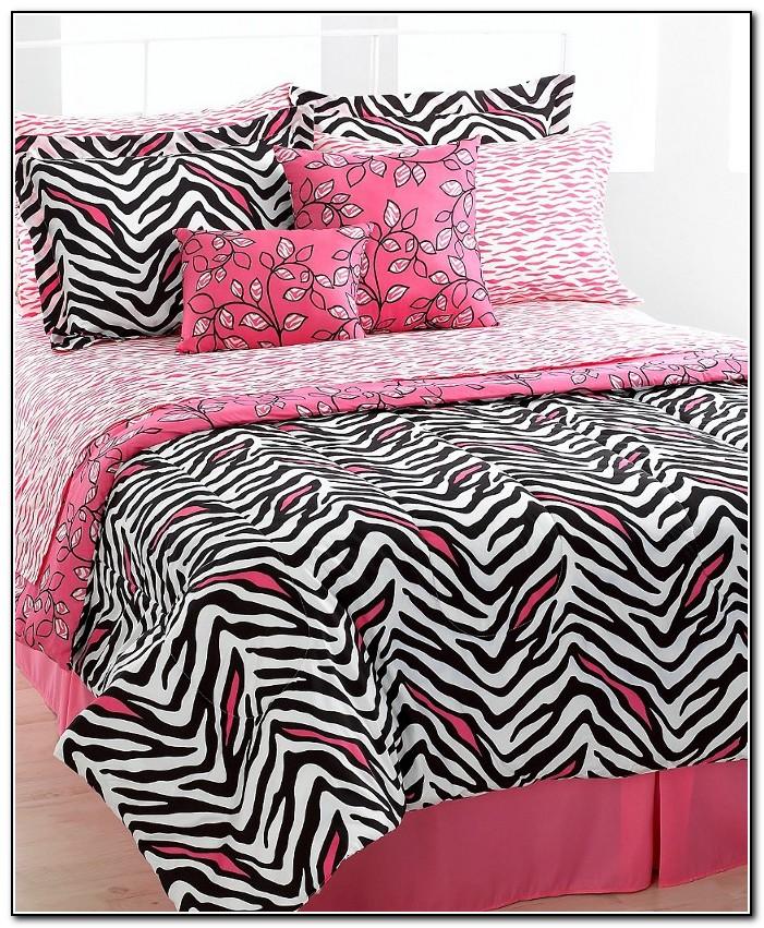 Pink Zebra Bedding Full