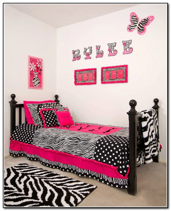 Pink Zebra Bedding Twin