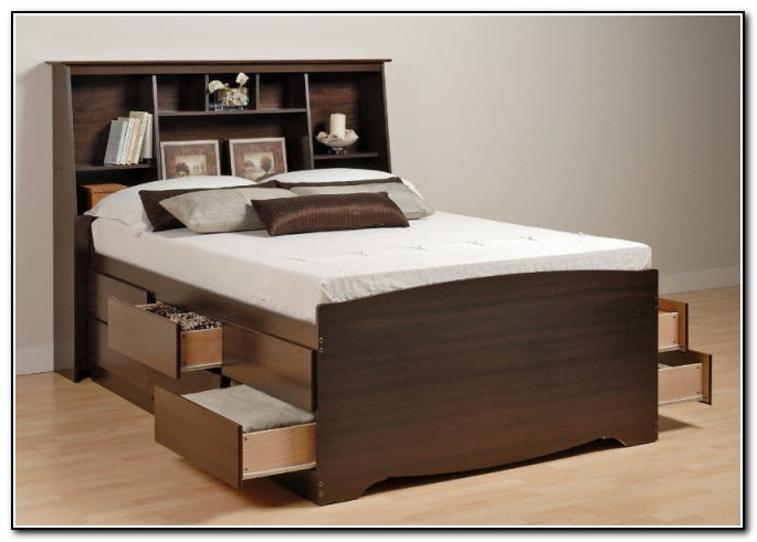 Queen Bed With Storage Drawers Underneath