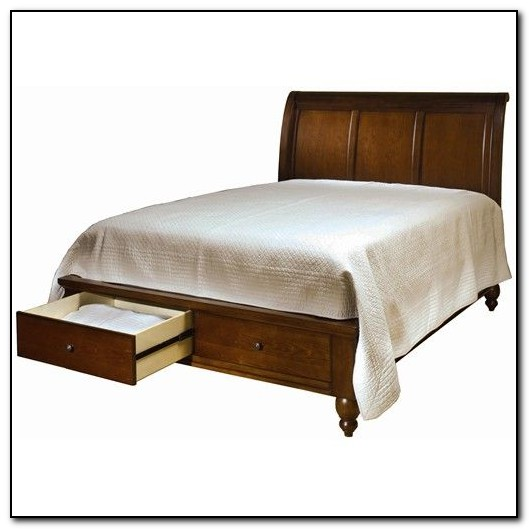 Queen Sleigh Bed With Storage Drawers