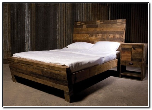 Reclaimed Wood Bed Modern