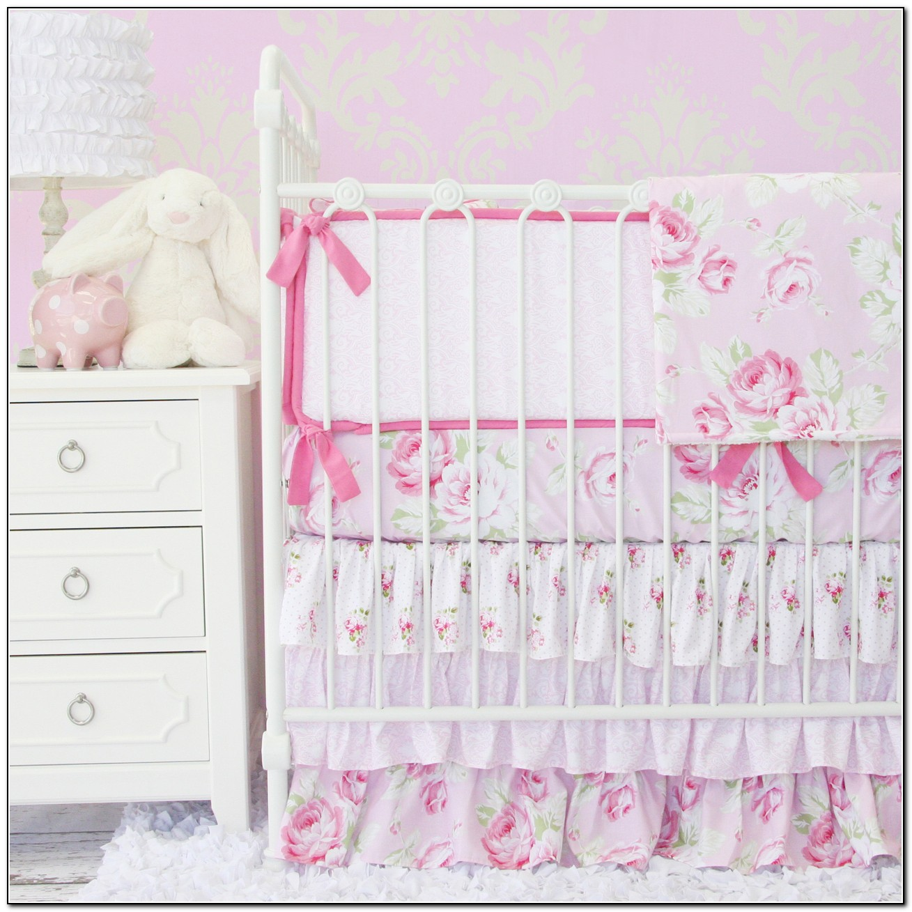 shabby chic baby bedding floral download page home. Black Bedroom Furniture Sets. Home Design Ideas