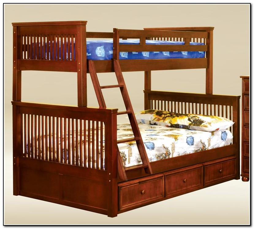 Twin Full Bunk Bed Wood