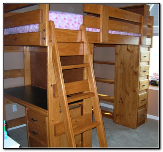 Twin Loft Bed With Desk And Dresser