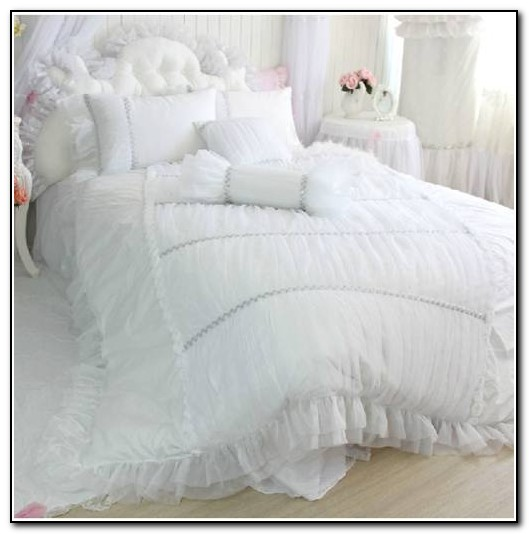 White Ruffle Bedding Full