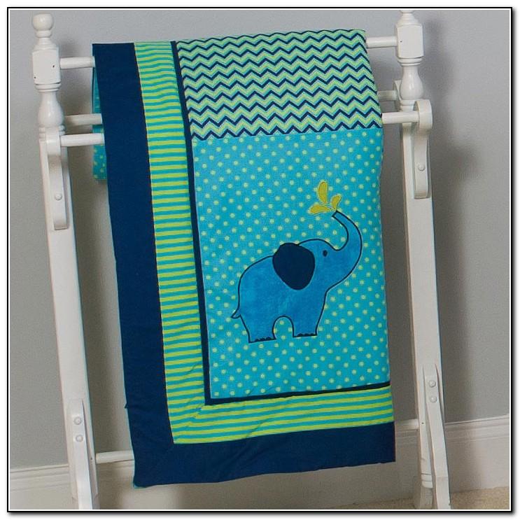 Zig Zag Elephant Baby Bedding