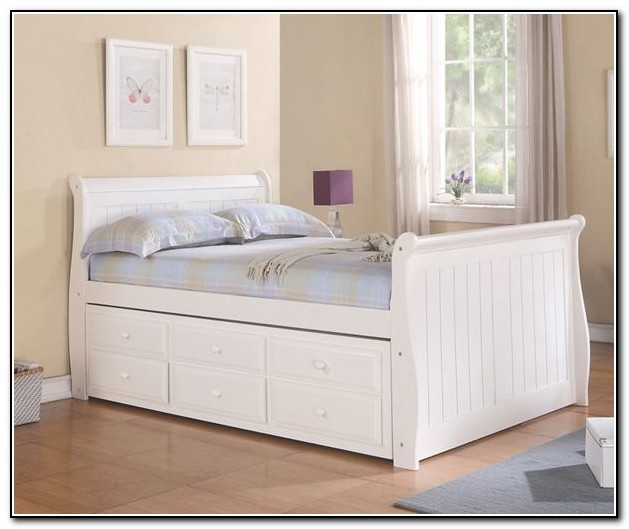 Captains bed full white download page home design ideas Captains bed full