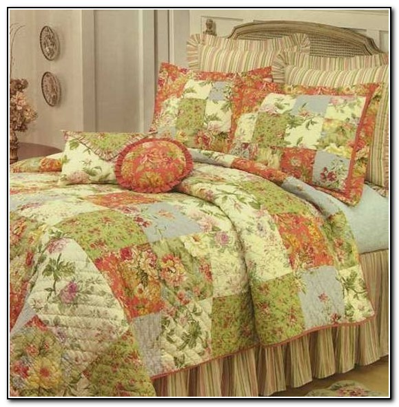 Peach And Mint Green Bedding