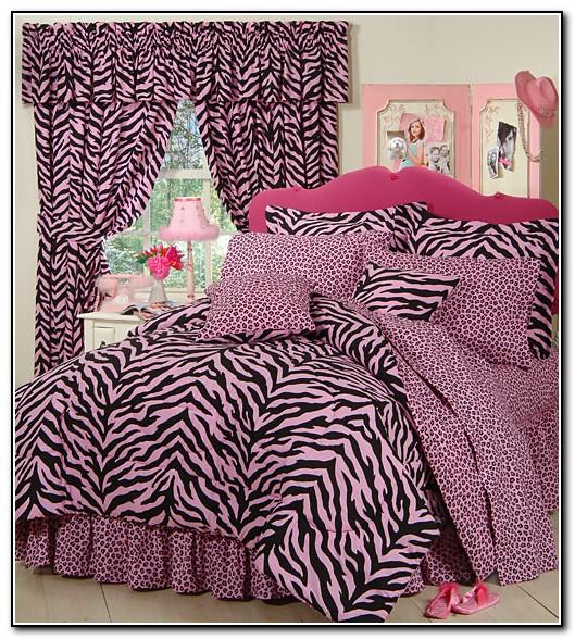 Pink Purple Zebra Bedding