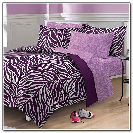 Purple Zebra Bedding Set