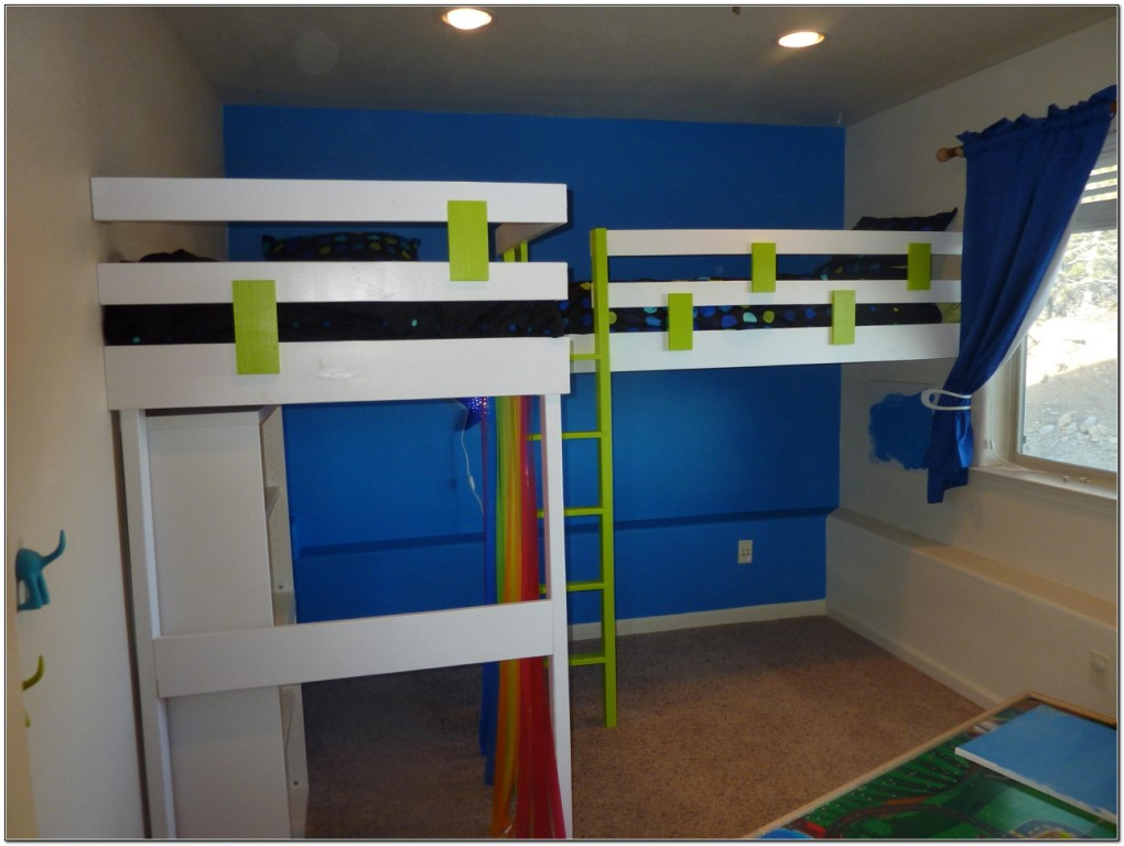 Double Loft Bed Plans Download Page Home Design Ideas